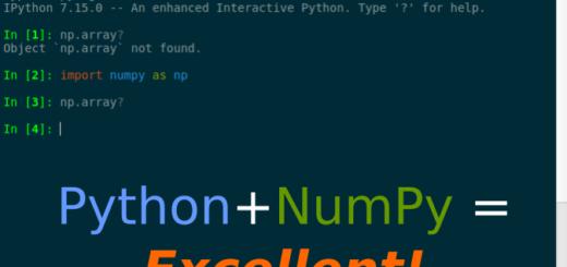 python + numpy = excellent